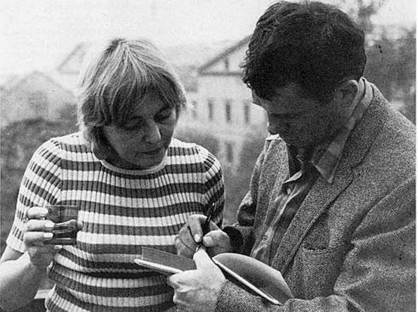 Nanda Pivano (1917-2009) con lo scrittore americano Jack Kerouac (1922-1969)