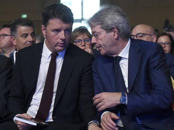 Matteo Renzi e Paolo Gentiloni (Mistrulli)