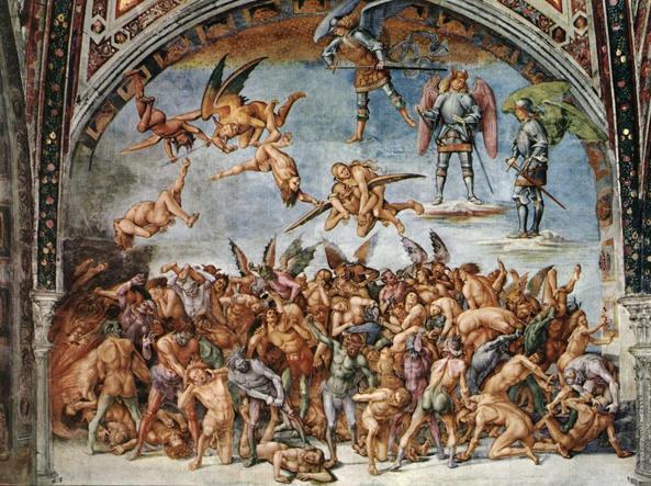 L'affresco di Luca Signorelli sui Dannati all'Inferno nel Duomo di Orvieto