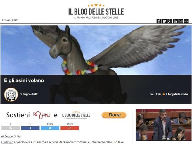 Grillo: «Con M5S rapporto indissolubileNessun passo indietro»