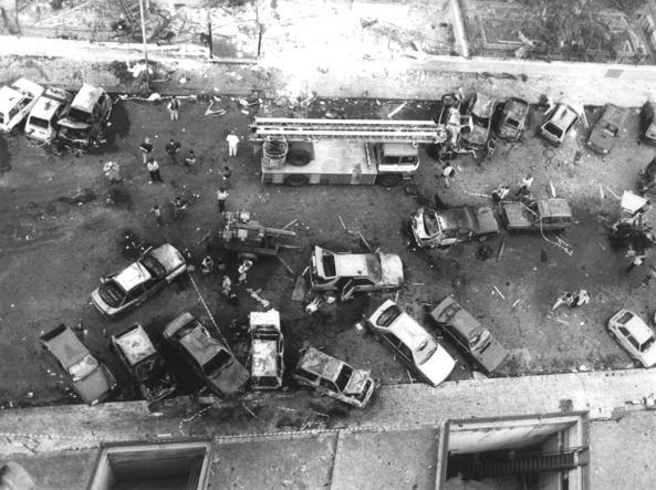 La strage di via D'Amelio, a Palermo, dove perse la vita il giudice Paolo Borsellino