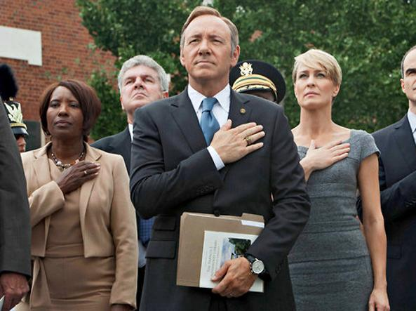 Tra le serie più note di Netflix c'è «House of Cards» con Kevin Spacey e Robin Wright (foto).
