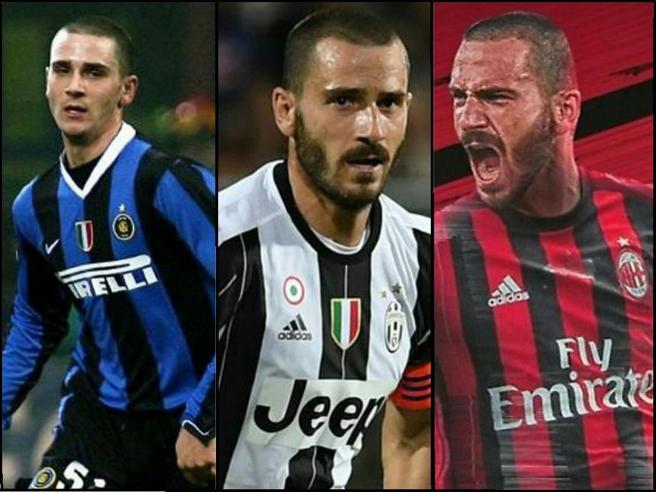 Tripli ex: Leonardo Bonucci è l'11° ad aver giocato con Inter, Juventus e Milan