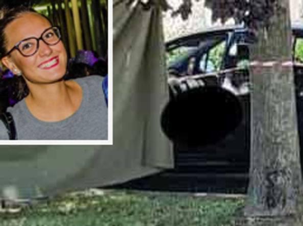 Nadia Orlando e l'auto dove è stato trovato il suo corpo    (Ansa)