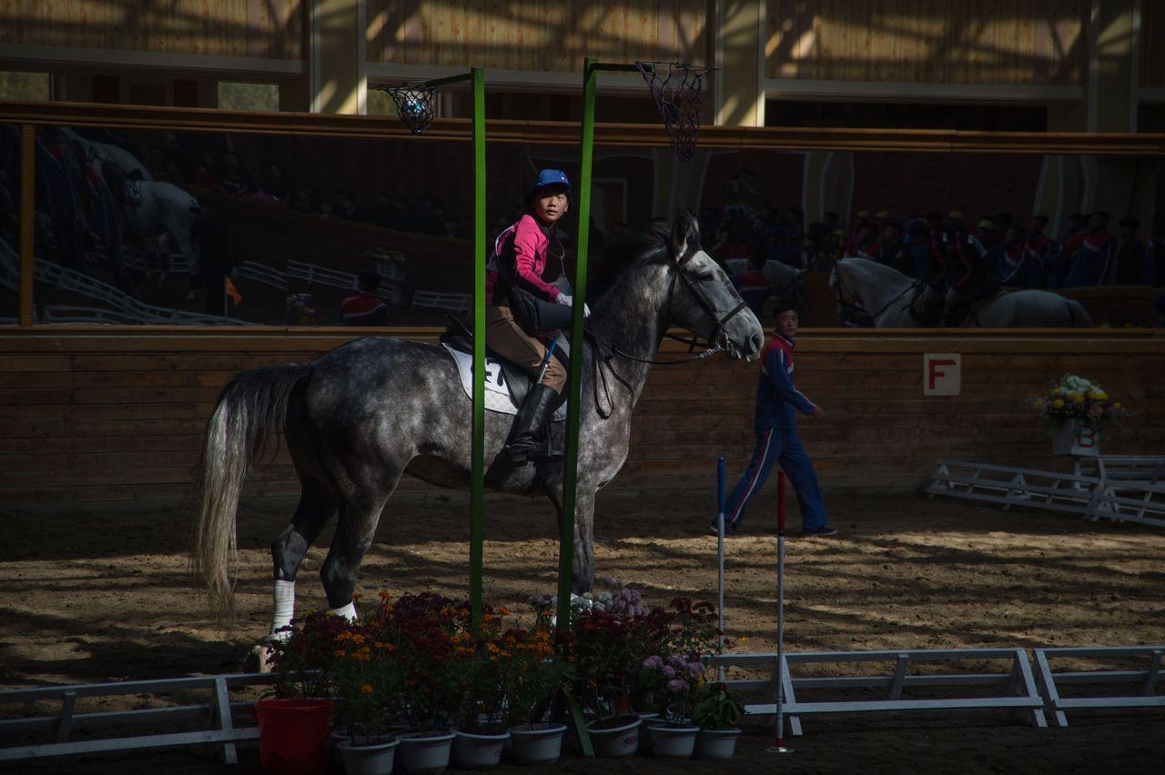 Cavalli e fantini: a scuola di equitazione a  Pyongyang