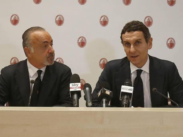 Il presidente di Mps, Alessandro Falciai, e l'amministratore delegato, Marco Morelli (Ansa)