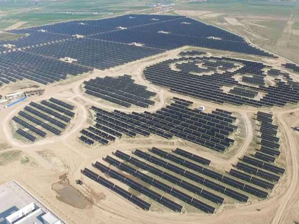 L Impianto Solare Pi 249 171 Tenero 187 Del Mondo In Cina A Forma
