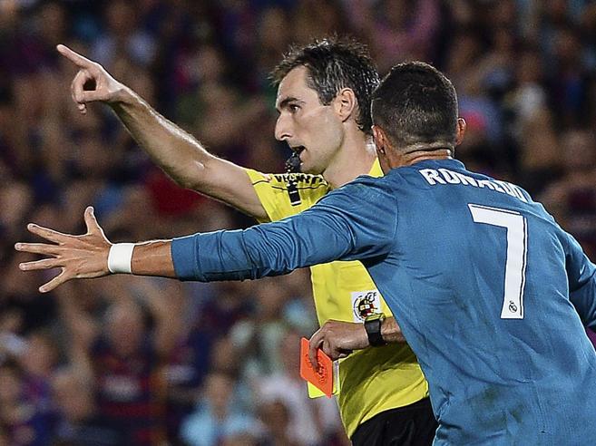 Supercoppa spagnola: al Real il primo round (ma Ronaldo viene espulso)