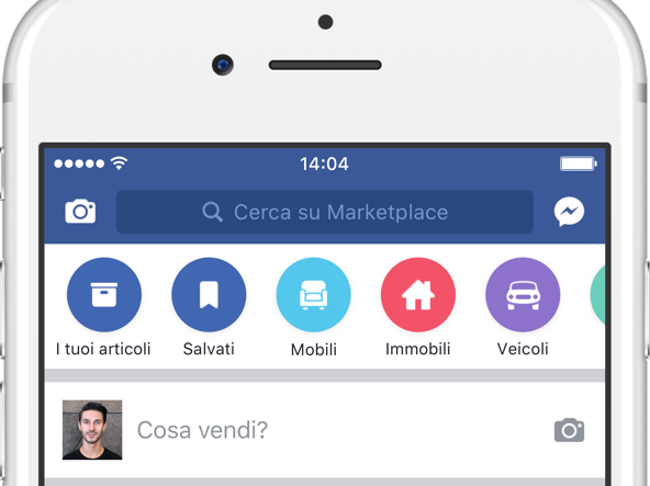 Marketplace di Facebook è arrivata in Italia