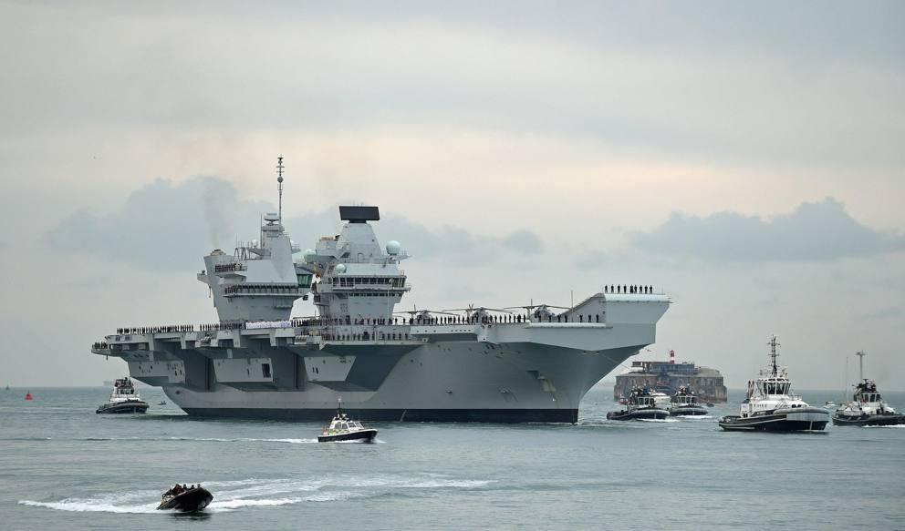 Gran bretagna la nuova portaerei queen elizabeth arriva - Nuova portaerei ...