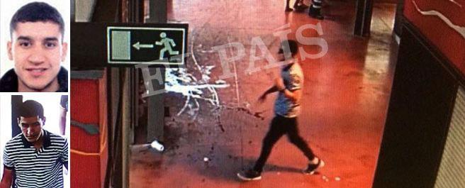 Un frame video diffuso da El Pais mostra l'attentatore che si allontana attraverso il mercato della Boqueria