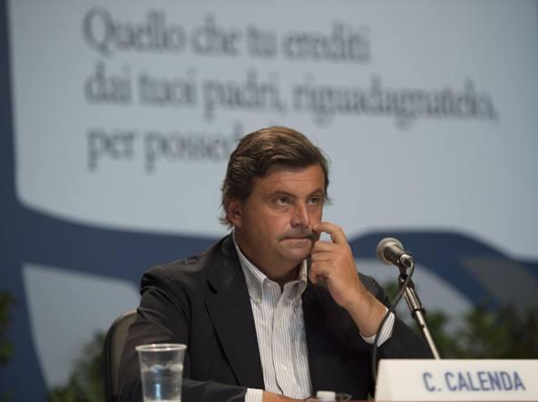 Il ministro dello Sviluppo Economico, Carlo Calenda, al suo intervento al Meeting di Rimini lo scorso 22 agosto (Imagoeconomica)