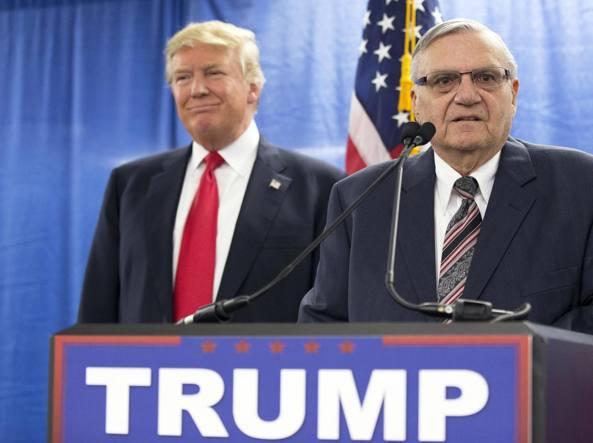 Donald Trump ha graziato Joe Arpaio sceriffo anti immigrati
