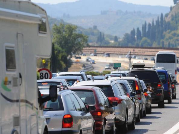 Weekend dal traffico intenso sulle strade italiane