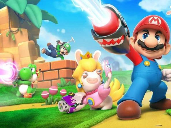 Nel nuovo trailer di Mario + Rabbids: Kingdom Battle Luigi dabba