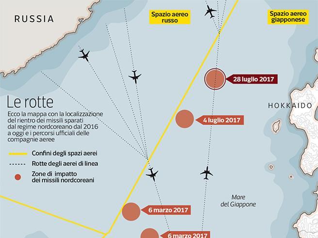 Corea del nord missili giappone e corea dove volano i for Cabina nelle montagne della carolina del nord
