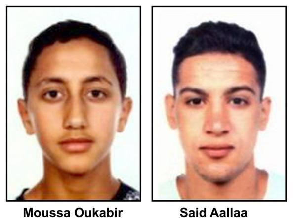 Due degli attentatori di Barcellona (Epa)