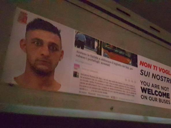 Palermo. Contro i borseggiatori foto segnaletiche sugli autobus