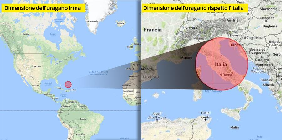 Uragano irma dove si trova la cartina dei caraibi for Dove si trova la camera dei deputati