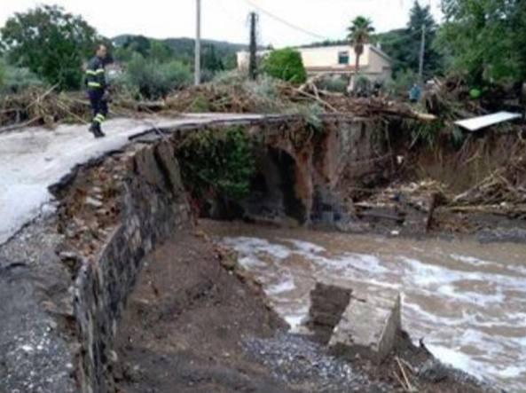 Un'immagine dell'alluvione di Livorno