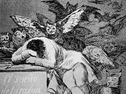 Francisco Goya, «Il sogno della ragione genera mostri» (1797)