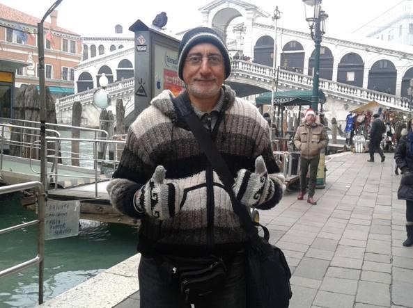 Una foto del professor Pietro Marinelli in gita a Venezia presa dal suo blog