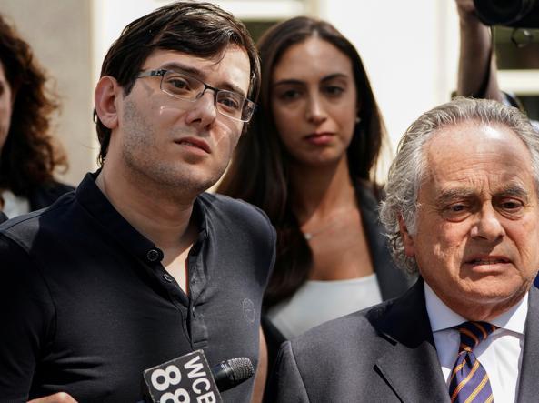 Martin Shkreli con il suo avvocato