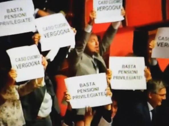 La protesta del M5S