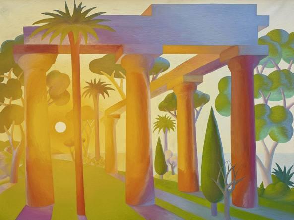 Salvatore Mangione «Salvo» (Leonforte, Enna, 1947 – Torino, 2015), «Alba» (1989, olio su tela)