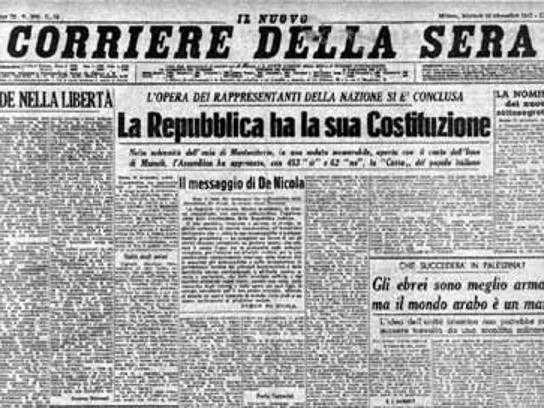 Fondata sul lavoro l articolo 1 e il compromesso alla for Resoconto tratto da articoli di giornali