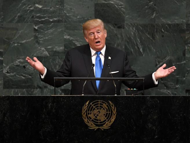 Trump all'Onu: «Da Kim Jong-un missione suicida. Se ci attacca, distruggeremo la Corea del Nord»