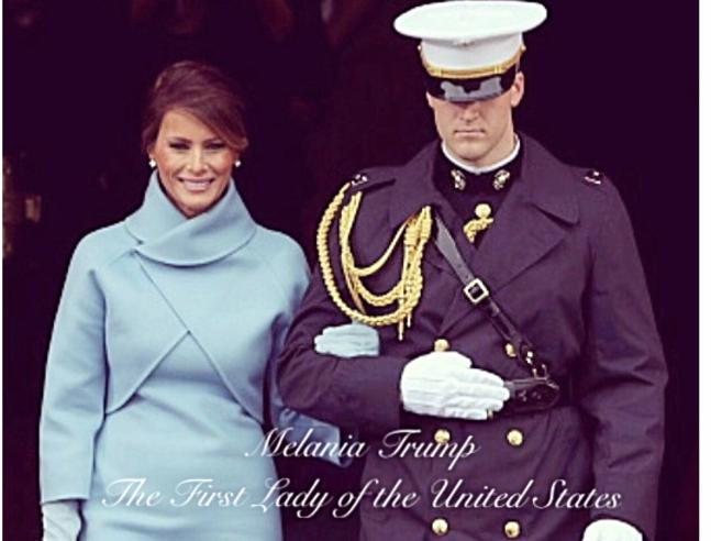 Melania Trump e la foto per festeggiare il primo anno da first lady (che scatena l'ironia della Rete)