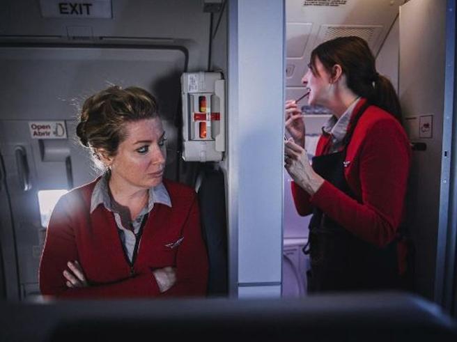 Vivere in volo: le foto «segrete» delle hostess di Virgin America