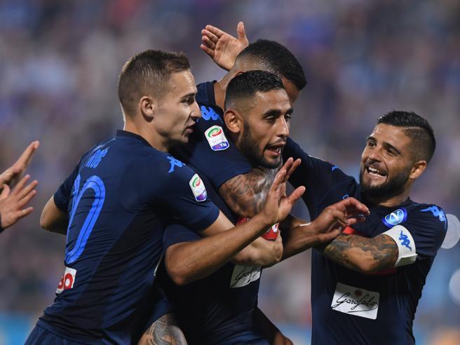 Napoli record: 6 vittorie su 6  Ora tocca alla Juve nel derby con il Torino. Vince la Roma