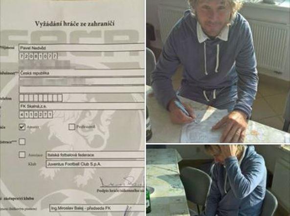 Nedved torna in campo a 45 anni, ha firmato con l'FK Skalná