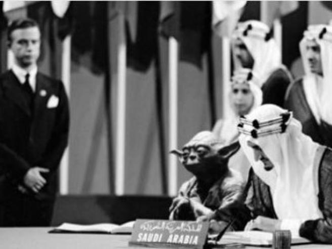 L'errore del governo saudita: Yoda vicino a re Faisal nei libri di storia
