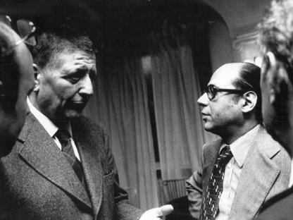 Giovanni Russo (a destra) con Giorgio Amendola