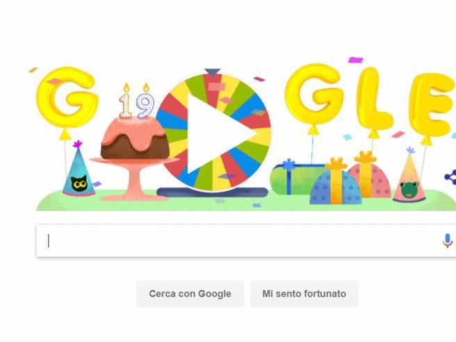 Google e il Doodle per i suoi 19 anni