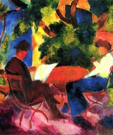 August Macke, At the Garden Table (1914)