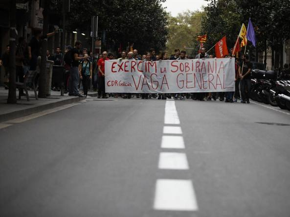 Madrid vs Barcellona. Oggi sciopero generale in Catalogna