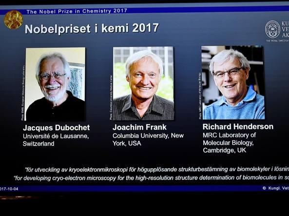 Nobel chimica 2017 ai pionieri dellla crio-microscopia elettronica