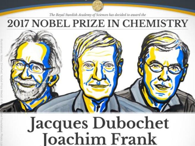 Premio Nobel 2017 per la Chimica a Dubochet, Frank e Henderson «Rivoluzionari della biochimica»