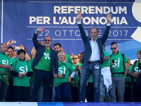 Referendum autonomista, Zaia: