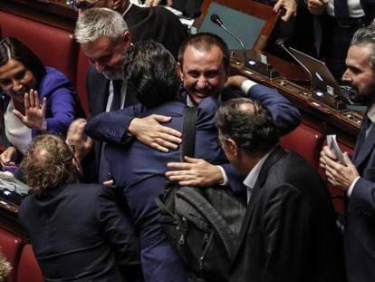 Risultati immagini per La Camera approva il Rosatellum bis: 375 sì e 215 voti contrari.