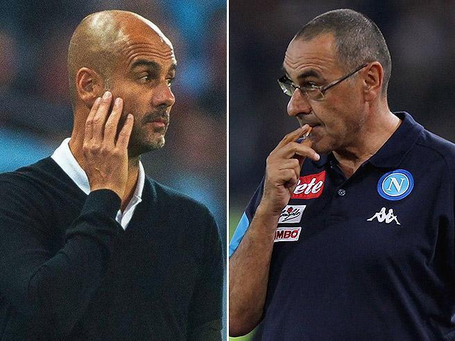 ManCity-Napoli: somiglianze (poche) e differenze (molte) fra Guardiola e Sarri