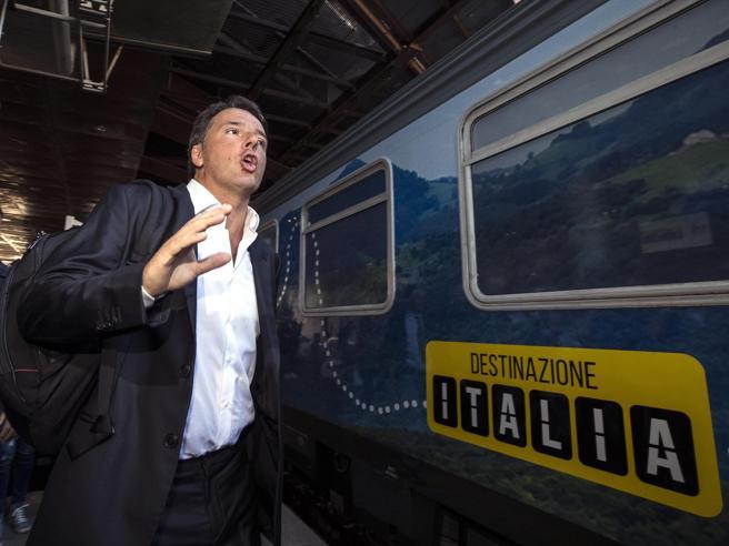 È partito  il Freccia bianca di Renzi«Pd pronto al dialogo» Il videoLa nave di FI, Prodi in tir: i tour