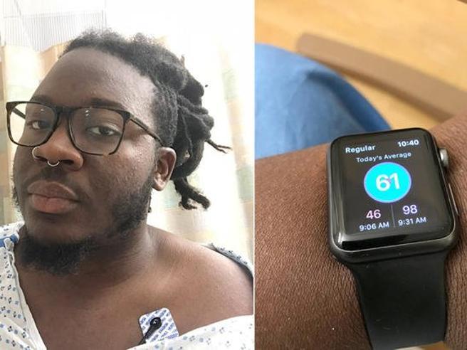 Salvato dallo smartwatch che  segnala embolia polmonare