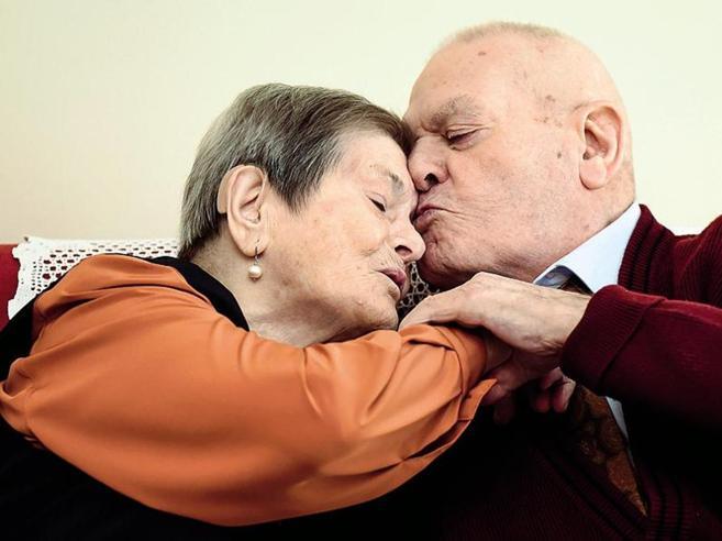 «La fuitina, poi 77 anni insieme»I coniugi Bruno, sposi  da record