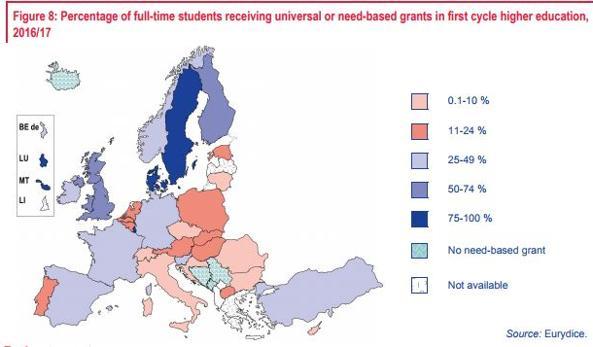 Caro-università, Italia al terzo posto in Europa