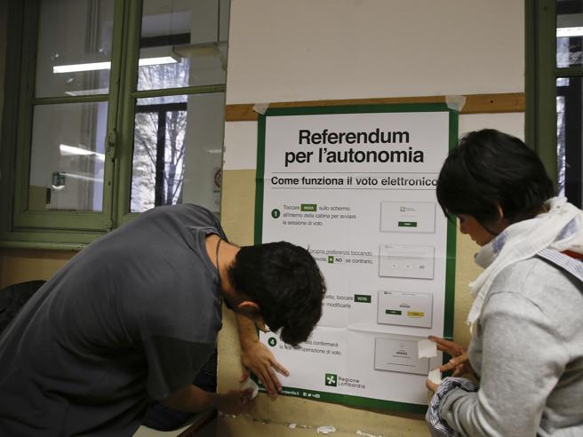 Referendum, affluenza alle 19.  Veneto raggiunge il quorum: ha votato il 50,1%. In Lombardia oltre il 30%